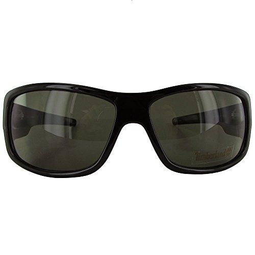 Timberland Tmberland Sunglass Mens Black Plastic Wrap, Light Smoke Lens TB7092 1N