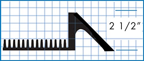 American Floor Mats Pronged Rubber Black 32'' x 39'' x 2-1/2'' Wall Edge Sanitizing Footbath Floor Mat by American Floor Mats (Image #2)