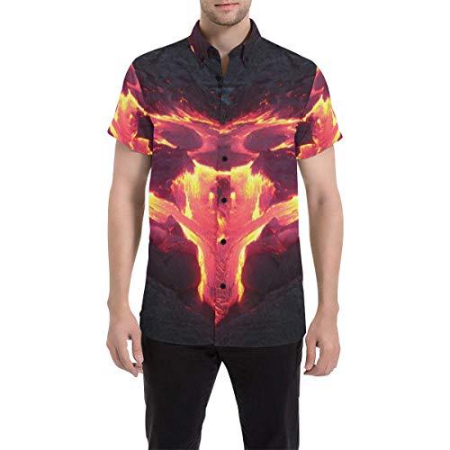 BrowneOLp Hawaiian Lava Sunset Men's All Over Print Short Sleeve Shirt L
