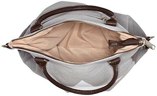 Bags4Less Damen F3151 Umhängetasche, 20x40x50 cm Grau (Weisser Stern Grau)