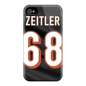 Iphone 4/4s Gjk3720dezO Custom Trendy Cincinnati Bengals Skin Protector Cell-phone Hard Covers -AaronBlanchette