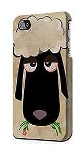 E2826 Cute Cartoon Unsleep Black Sheep Funda Carcasa Case para IPHONE 5 5S