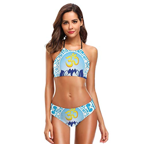 Women's Two Piece Bikini Swimsuits,Eastern Ancient Design with