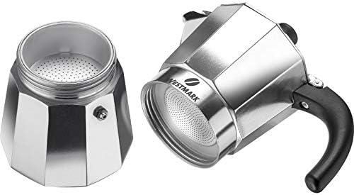 Westmark 24602260 Brasilia - Cafetera italiana (3 tazas, aluminio ...