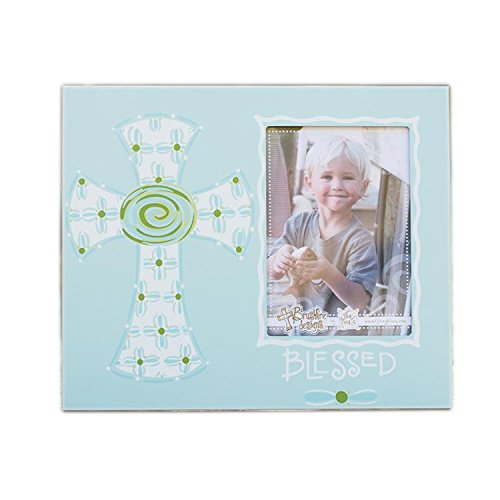 Glory Haus Blue Blessed Cross Frame, 10 x (Blessed Frame)
