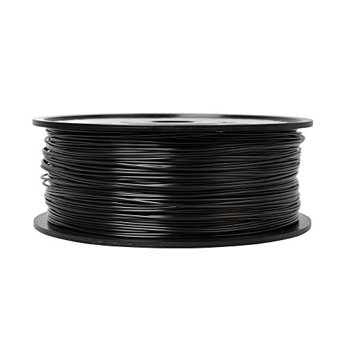 Macher 3D 1.75mm PLA 3D Printer Filament Material 2.2 LBS (1.0KG) Spool (PLA, Black) Macher 3D Supplies