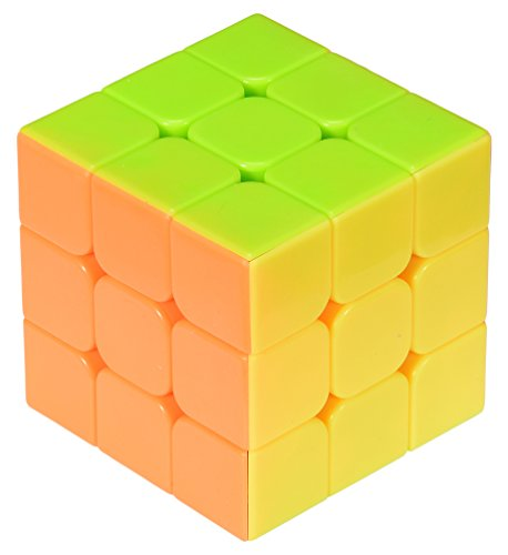 MoYu YJ Stickerless Yulong Plus 3x3x3 Speed Cube Puzzle, Small, High Bright Pink