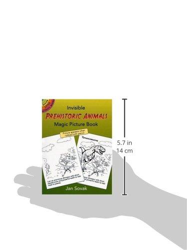 Invisible Prehistoric Animals Magic Picture Book (Dover Little Activity Books) (Vol i)