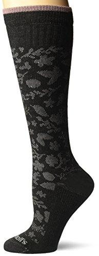 Dr. Scholl's Women's Graduated Compression Floral Knee High, black, pink Shoe Size: -