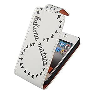 HP DF Number 8 Up-down Turn Over PU Leather Full Body Case for iPhone 4/4S