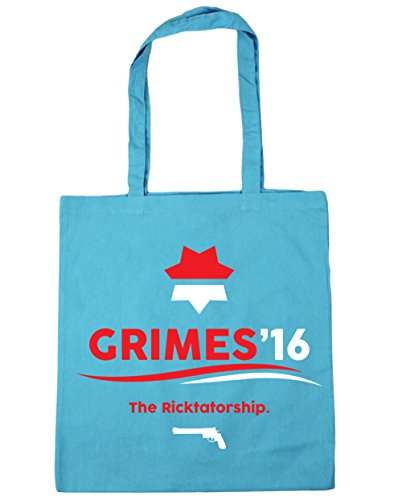 HippoWarehouse Grimes 2016la Ricktatorship Tote Compras Bolsa de playa 42cm x38cm, 10litros azul (Surf Blue)