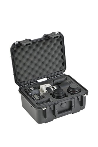 SKB Cases 3I-13096SLR1 SKB iSeries Camera Cases for DSLR with Attached Lens, Lens Pockets and Accessories (Black) by SKB Cases