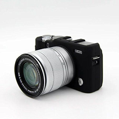 ABCTen Black Silicone Camera Case Rubber Protective Cover For Fuji Fujifilm XA10 X-A10 XA3 X-A3 A3 Rubber