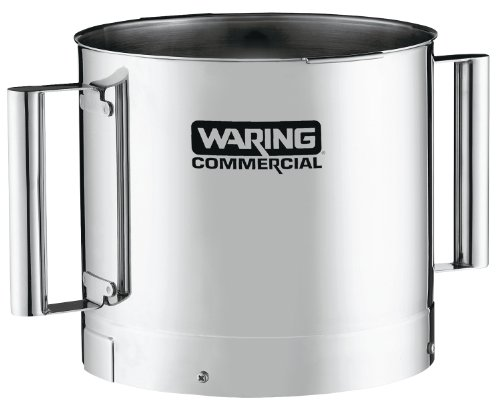 Waring Commercial FP40SSB Stainless Steel Batch Bowl with 2-Handle, 4-Quart by Waring