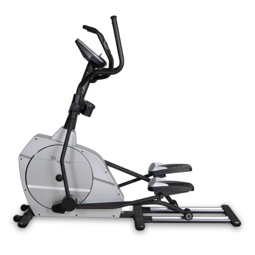 Bladez Fitness Elliptical - XS1 - A Total Body Workout And Natural Feel With An 20 Inch Stride For Maximum Comfort - Commercial Grade Quality - Easy To Read Large Blue Backlit LCD Display Provides 12-Quick Start Preset Programs - 16 Levels Of Resistance