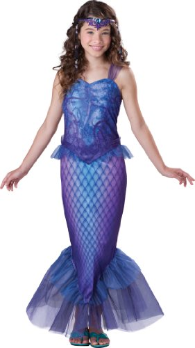 Cool Halloween Costumes For Tween Girls (InCharacter Costumes Tween Mysterious Mermaid Costume, Bue/Purple,)