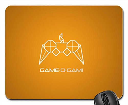 GAME-O-GAMI , orange, 1024x768 Mouse Pad, Mousepad (10.2 x 8.3 x 0.12 inches)