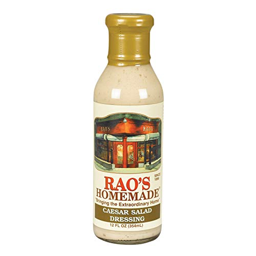 Rao's Homemade Caesar Salad Dressing, 12 Fl Oz Jar, 1 Pack, Classic, Creamy Blend of Parmesan Cheese and Anchovies Flavored with Bleu Cheese, Lemon Juice, and Spices, Great for Grilled Chicken