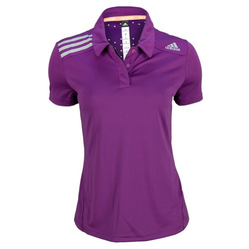 ADIDAS Women`s Clima Chill Tennis Polo Tribe Purple