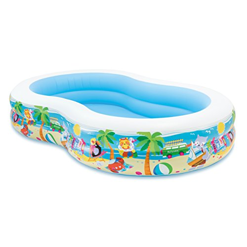 Intex Swim Center Paradise Inflatable Pool, 103' X 63' X 18', for Ages 3+