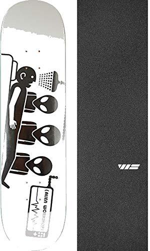 - Alien Workshop Abduction 3D Foil White Skateboard Deck - 8.25