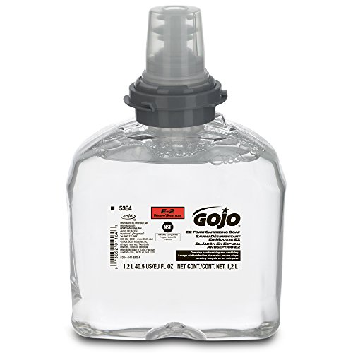 gojo-5364-02-tfx-e2-foam-sanitizing-soap-1200-ml-case-of-2compatible-with-dispenser-2740-12-2730-12-