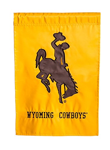 Wyoming Cowboys Official NCAA 12.5 inch x 18 inch Applique Garden Flag by Evergreen by Fans With Pride by Fans With Pride