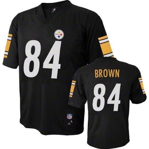 Antonio Brown Pittsburgh Steelers Black NFL Youth 2013-14 Season Mid-tier  Jersey ( 2015 Nike ... 790fec77f