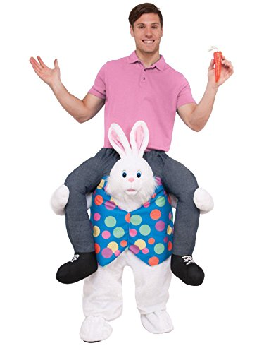 Forum Novelties Men's Hop On Top Ride-on Easter Bunny Costume, As As Shown, Standard -