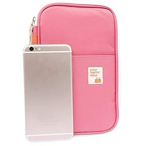 CoKate Passport Wallet And Luggage Tag Travel Set Wallet For Card Money Ticket Mobile Pink Set