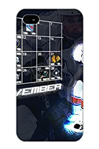 Hot Snap-on Background Of The Day Edmonton Oilers Hard Cover Case/ Protective Case For Iphone 4/4s Kimberly Kurzendoerfer