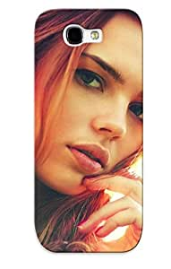 New Exultantor Super Strong Women Redheads Models Tpu Case Cover Series For Galaxy Note 2