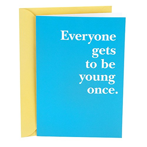 Hallmark Shoebox Funny Birthday Greeting Card (Young Once)