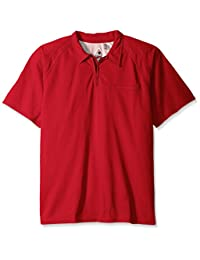 Bulwark Men's Big and Tall Iq Series Short Sleeve Comfort Knit Polo, Red, 3X-Large