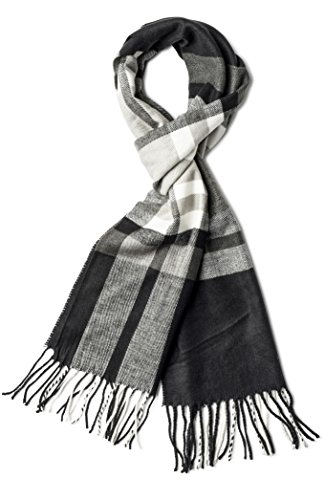 Veronz Super Soft Luxurious Classic Cashmere Feel Winter Scarf (Big Plaid 2) With Gift Box