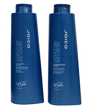 Joico Moisture Recovery Shampoo And Conditioner Liter Duo Set 33.8 Ounce