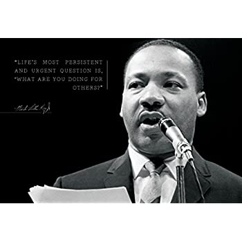 Martin Luther King Jr MLK 13x19 Poster Lifes Most Persistent And Urgent Question Is