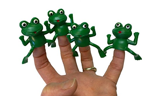 Package Of 72 Rubber Finger Frog Puppets ()