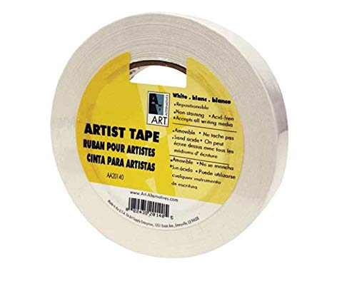 Top white masking tape 1/2 inch