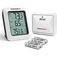 ThermoPro TP-60S Digital Hygrometer Indoor Outdoor...