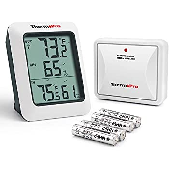 ThermoPro TP-60S Digital Hygrometer Indoor Outdoor Thermometer Humidity  Monitor 92e73bce09be1