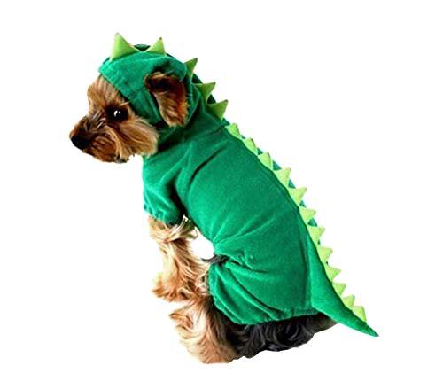 ARJOSA Puppy Dog Dinosaur Dragon Costume Hoodie Jumpsuit Jumper Pet Winter Coat Warm Clothes (XL, 1 -