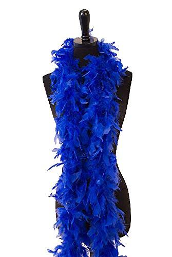 WGI 6' 40g Adult Feather Boa, Bright Blue -