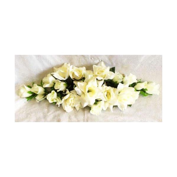 Kampoojoo – Cream Rose Swag Silk Wedding Flowers Chuppah Arch Gazebo Centerpiece