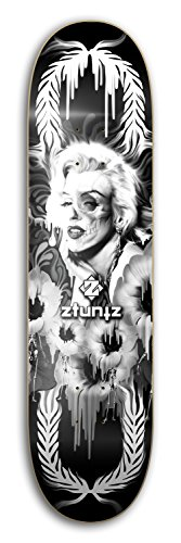 "ZtuntZ Skateboards KPD ""Wonderland"" Park Skateboard Deck, Black/Natural, 8.0 x 31.50-Inch/14-Inch WB"