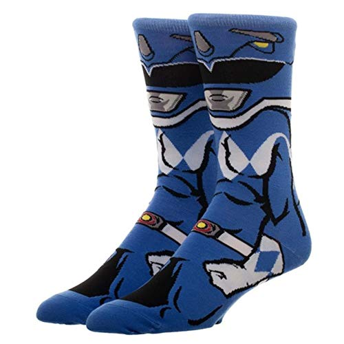 Power Rangers Character Collection Blue Ranger 1 Pair Of Crew Socks