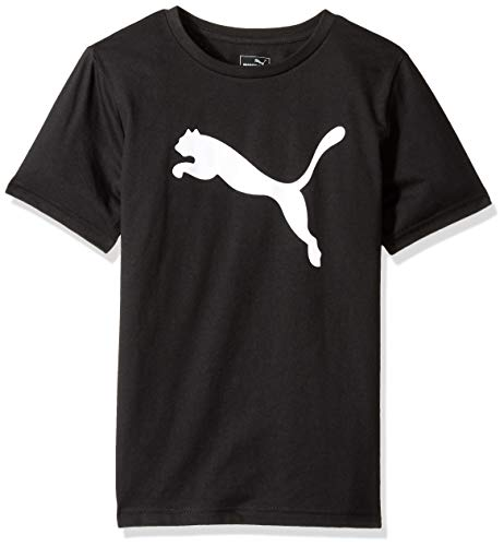 PUMA Big Boys' Graphic Tee, Black, Large - Graphic T-shirt Puma