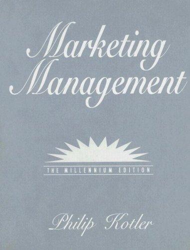 Marketing Management (Prentice Hall International Series in Marketing)