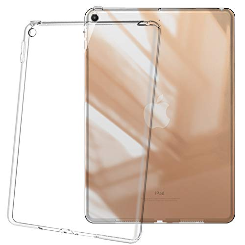 HBorna iPad 9.7 Case for 2018/2017 Model, Ultra Slim Transparent Clear Soft TPU Flexible Rubber Silicone Gel Scratch Resistant Back Cover Skin for Apple iPad 9.7 Inch (iPad 5, iPad 6)