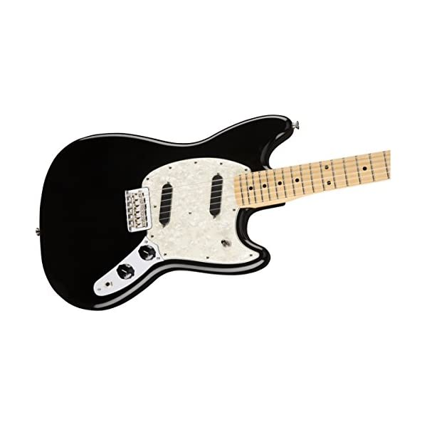 Fender Mustang Electric Guitar Maple Neck Black